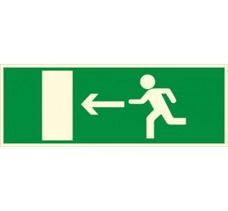 Panneau PVC photoluminescent rigide Issue de secours à gauche