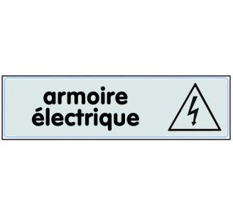 Plaque de porte plexi classique argent armoire électrique