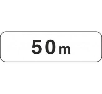 """Panneau type routier """"50m"""" ref:M1"""
