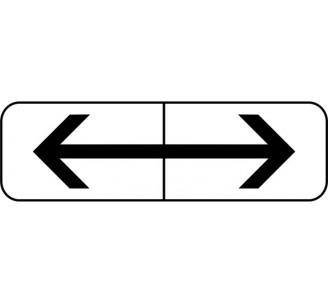 """Panneau type routier """"Flèches gauche-droite"""" ref:M8f"""