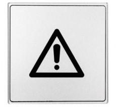 Pictogramme plexi classique argent danger