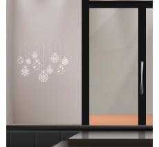 Stickers pour vitrine, décorations de noël
