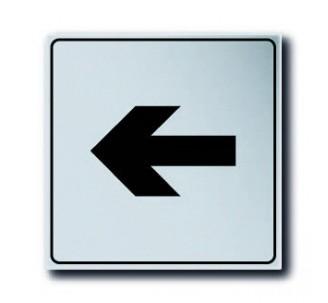 Pictogramme plexi classique argent flèche droite ou gauche