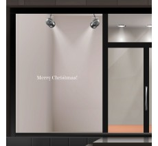 "Sticker pour vitrine ""Merry Christmas"""