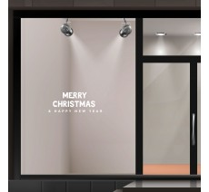 "Adhésif pour vitrine ""Merry Christmas & Happy New Year"""