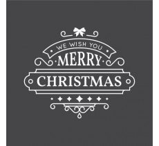 "Autocollant pour vitrine ""We Wish You Merry Christmas"""