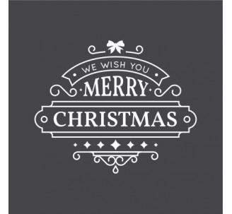 "Sticker pour vitrine ""Merry Christmas"""