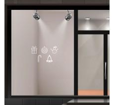 Kit de stickers adhésifs pour vitrines