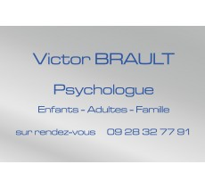 Plaque professionnelle Psychologue