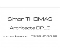 Plaque professionnelle Architecte
