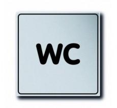 Pictogramme plexi classique argent WC