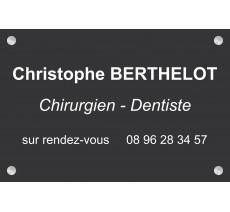 Plaque professionnelle Chirurgien dentiste