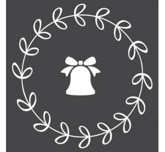 Sticker pour vitrine en couronne de noël avec sapin