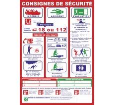 """Panneaux PVC Priplack """"consignes de sécurité"""" - Format A4"""