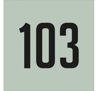Plaque de porte avec chiffre à personnaliser, en plexiglass