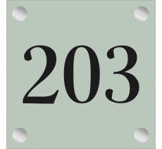 Numéro de porte en plexiglass