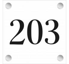 Plaque en plexiglass avec numéro