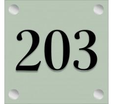 Numéro de porte en plexi avec relief, option braille, coloris au choix