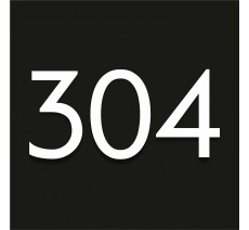 Numéro en plexiglass avec relief, option braille, fond noir