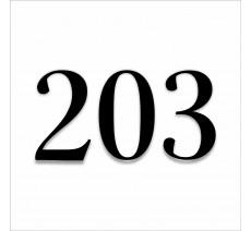 Numéro en plexiglass avec relief, option braille, fond blanc