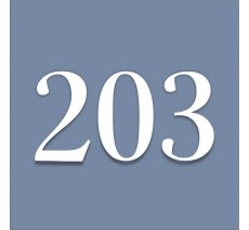 Numéro en plexiglass avec relief, option braille, bleu pastel