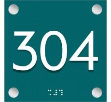 Numéro de chambre en plexi avec relief et braille