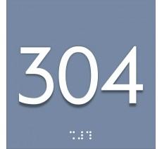 Numérotation avec relief et braille