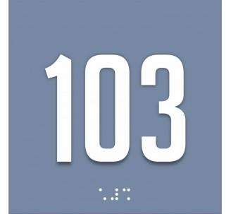 Plaque de porte avec chiffre à personnaliser, en plexiglass avec relief