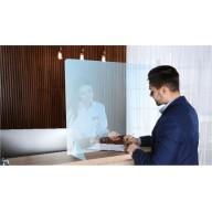 Protection transparente pour comptoir H 800 x L 650 mm