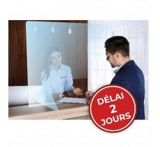 Protection transparente 750H x 650L mm , délai : 2 jours (hors transport)