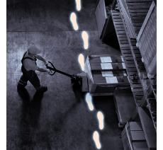 """Lot de 10 paires """"Empreintes de pas"""" de haute résistance photoluminescent"""