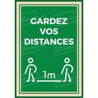 """Panneau ou Autocollant """" Gardez vos distances """" - Covid-19"""