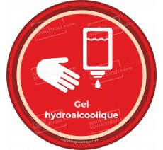 Sticker Gel hydroalcoolique - Covid-19
