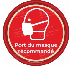Sticker Port du masque recommandé - Covid-19