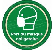 Panneau Port du masque obligatoire - Covid-19 - Vert