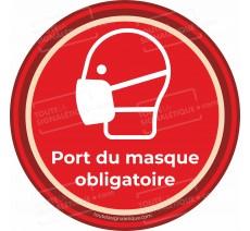 Panneau Port du masque obligatoire - Covid-19 - Rouge