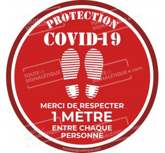 Rond au sol PROTECTION COVID-19