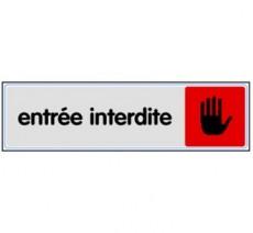 Plaque de porte plexi couleur Entrée interdite