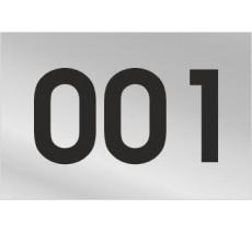 Numéro de logement en PVC gravé