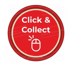 "Autocollant ""CLICK AND COLLECT"" à coller sur votre vitrine - COVID 19"