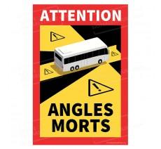 Autocollant Attention Angles morts pour bus, cars et autocars