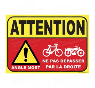 Sticker Angles morts pour bus , autocars