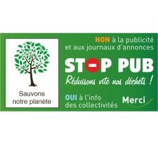 Étiquette STOP PUB pour boîte aux lettres