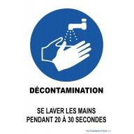 Panneau Décontamination - Lavage des mains