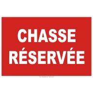 Panneau Chasse réservée