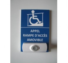 Plaque Appel rampe d'accès amovible format portrait
