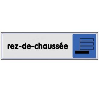 Plaque de porte plexi couleur rez-de-chaussée
