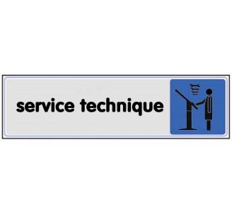 Plaque de porte plexi couleur service technique
