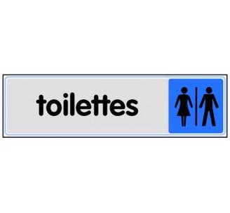 Plaque de porte plexi couleur toilettes mixte