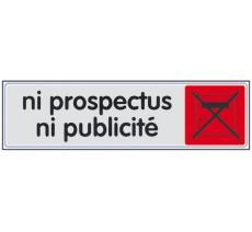 Plaque de porte plexi couleur ni prospectus, ni publicité